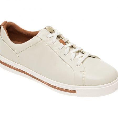 Pantofi CLARKS albi