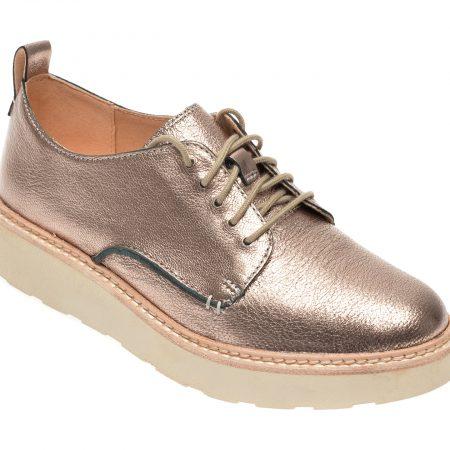 Pantofi CLARKS aurii