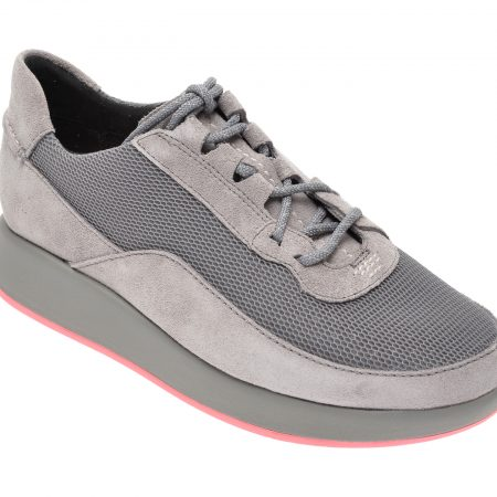 Pantofi CLARKS gri