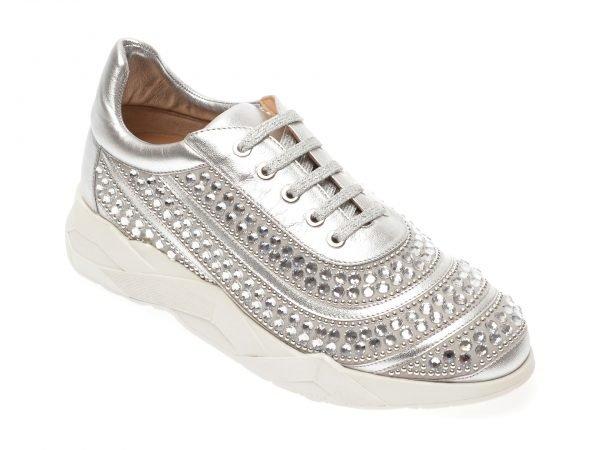 Pantofi LORIBLU argintii