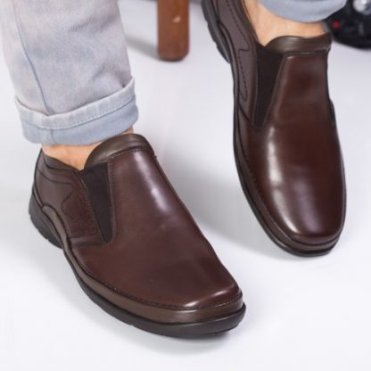 Pantofi barbati Piele Petersen maro casual imagine