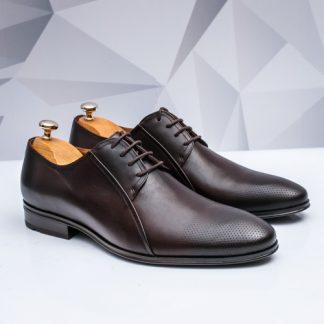 Pantofi barbati eleganti Piele maro Frenzo imagine