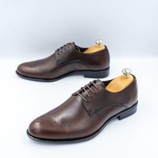 Pantofi barbati eleganti Piele maro inchis Veano imagine