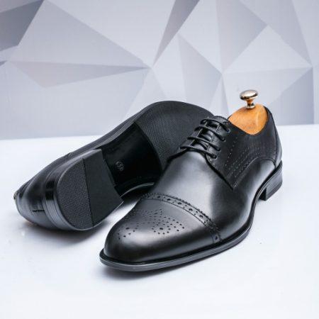 Pantofi barbati eleganti Piele negri Juman imagine