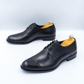 Pantofi barbati eleganti Piele negri Veano imagine