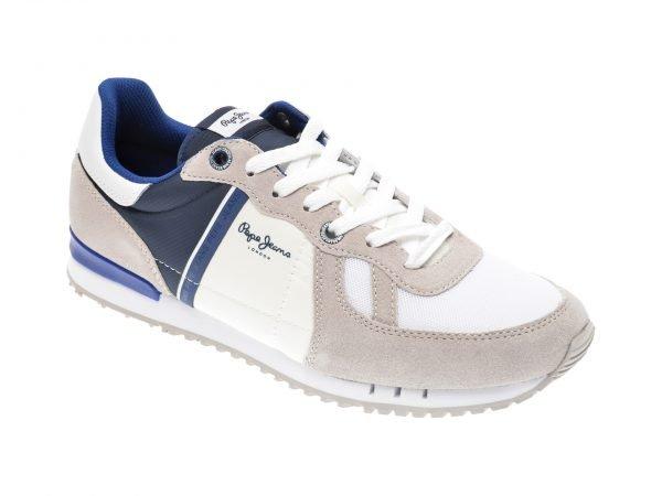 Pantofi sport PEPE JEANS albi