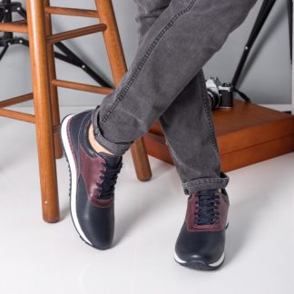 Pantofi sport barbati Piele Alann bleumarin casual imagine