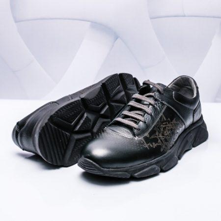 Pantofi sport barbati Piele negri Blaka imagine