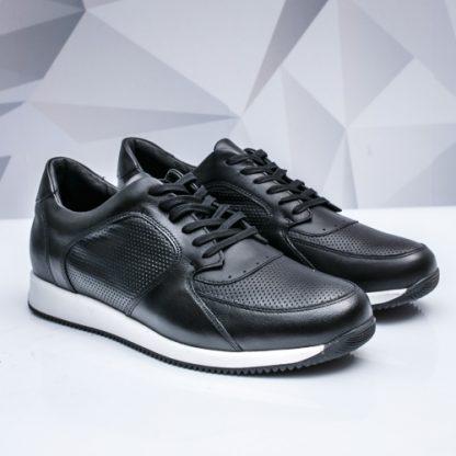 Pantofi sport barbati Piele negri Salzo imagine
