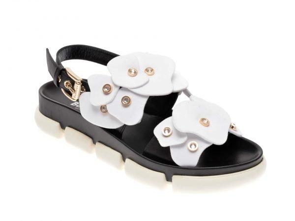 Sandale BALDININI alb-negru