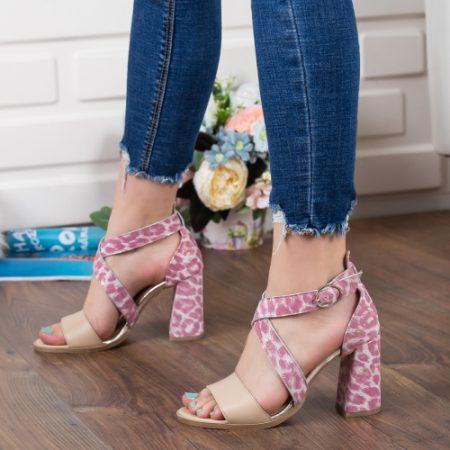 Sandale Piele lvria roz imagine